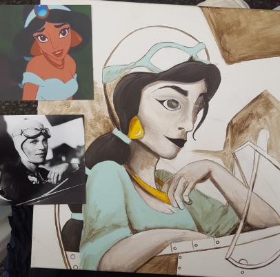 Jasmine and Amelia reference images