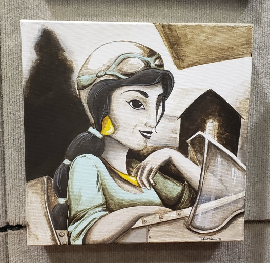 Princess Jasmine as Amelia Earhart Painting by A.Addison
